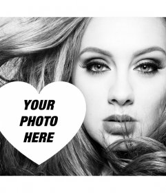Free photo effect for fans of the singer Adele
