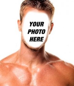 Photomontage of a muscular man with your face