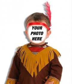 Put a face to an Indian child with this photomontage online