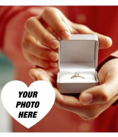 Photo effect to declare marriage with an engagement ring