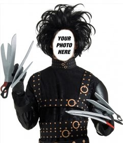 Photomontage of Edward Scissorhands to put your face in this character