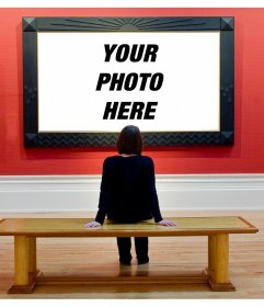 Set your picture in an art museum with this photographic montage