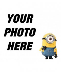 Photomontage where you can put a one-eyed yellow monster in your favorite photos