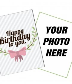 Cute customizable card to wish a happy birthday online