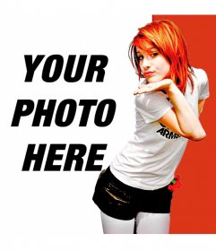 Photomontage with Hayley Williams, Paramore's singer