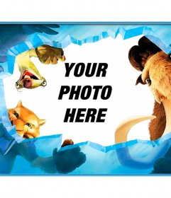 Photo frame of the movie Ice Age, for children, you can put a photo online