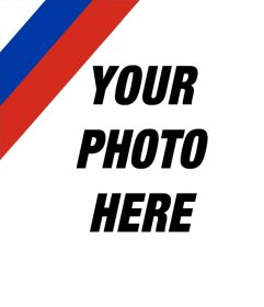 Photo effect to put the Russian flag in your image