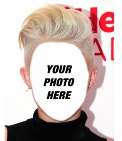 Photomontage to have the hairstyle of Miley Cyrus and free
