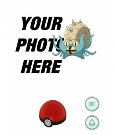 Hunting an Omastar with this photomontage of pokemon for your photo