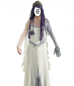 Photomontage of a costume of Corpse Bride you can edit online