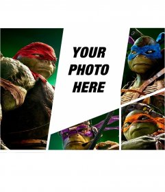 Photomontage with the new ninja turtles
