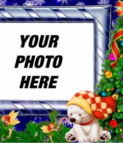 Christmas frame with a childhood photo frames to put your photo