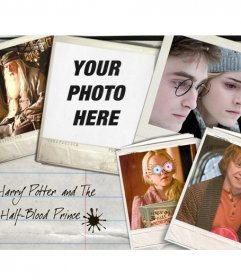 Put your picture next to the protagonists of the film Harry Potter: Hermione Granger, Ron Weasley
