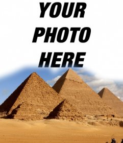 Effects to put your photo in the pyramids of Egypt