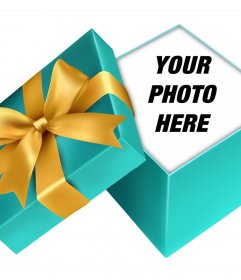Put your photo inside an open gift with this online assembly