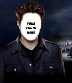 Online photomontage to put your face on Robert Pattinson