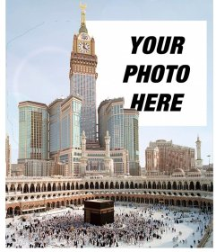 Trip postcard to Mecca, the largest city of Saudi Arabia