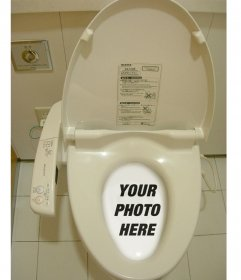 Funny Photomontage where you shall put your photo in a Chinese or Japanese wc dissolved in the water of the toilet