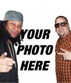 Online photomontage creator to add a photo next to Yaga y Mackie
