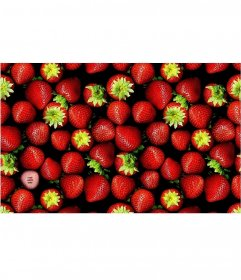 Photo game to put your picture in an image full of strawberries