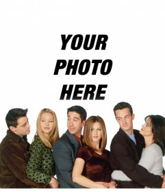 Your photo with the characters of Friends in this photo effect