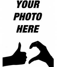 Your photo with the official symbol of the Friendzone with this fun effect