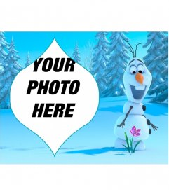 Collage of Olaf from Frozen