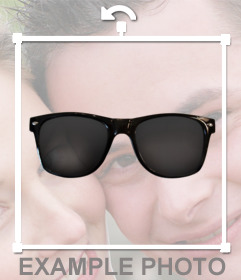 Sticker of sunglasses