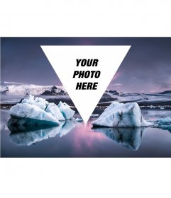 Hipster collage to put your photo on a glacier