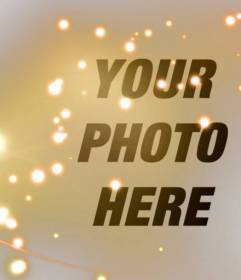 Put a effect of gold sparkles of color to your photos