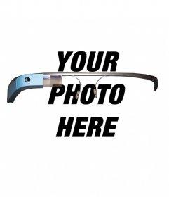 Photomontage like you have put a Google Glass glasses