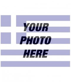 Photomontages creator of the Greece flag with a picture you upload