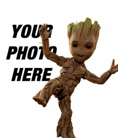 Photomontage with Groot Baby
