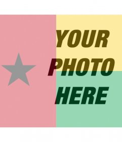 Free filter for your photo with the flag of Guinea Bissau