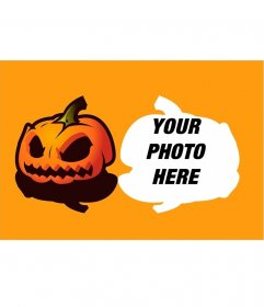 Put your photo with a pumpkin