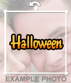Decorate your photos with the word Halloween as an online sticker