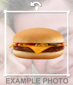 Sticker of a hamburger