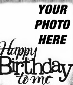 Vintage Card of Happy Birthday in English for your photo