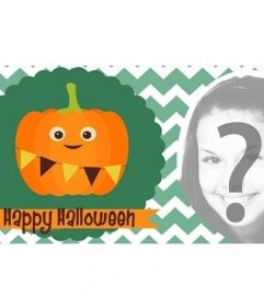 Halloween Facebook Cover Photo with a happy Pumpkin