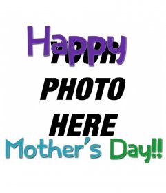 Card to congratulate the Mother's Day with colored text