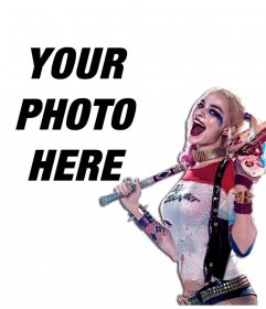 Photomontage to put your picture next to the villain Harley Quinn
