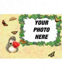 Hedgehog photo frame love to put a picture of a couple