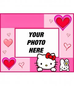 Photo frames and photomontages with Hello Kitty