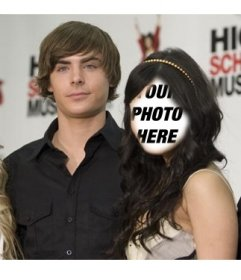 Photo montage to put your face on Vanessa Hudgens with Zac Efron