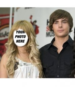 Photomontage to put your face on Ashley Tisdale with Zac Efron