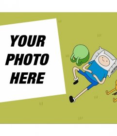 Editable effect for your photo with characters from Adventure Time