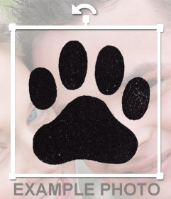 Photo effect to add a dog footprint on your photos and decorate