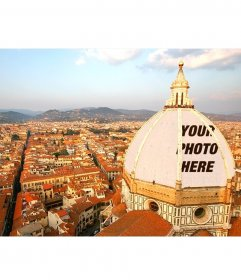 Postcard to put your photo on the Italian Dome