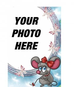 Photo frame, rat love to put a picture background online