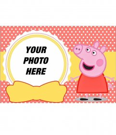 Peppa Pig collage for todlers